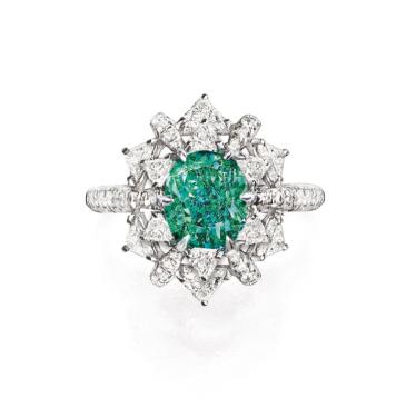 1.38 fancy blueish green