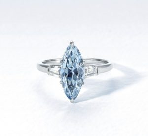 2.08 carat intense blue diamond