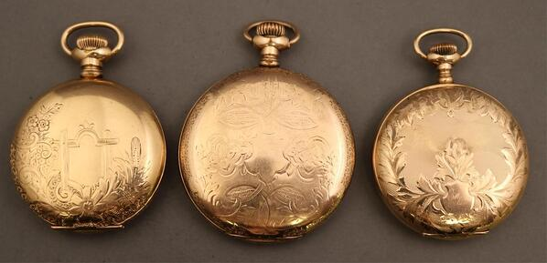 3 waltham pocket watches