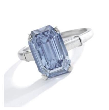 3.47 carat blue diamond ring