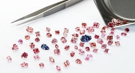 loose pink diamonds