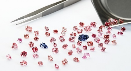 loose pink diamonds