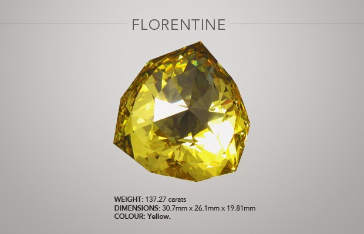 florentine yellow diamond