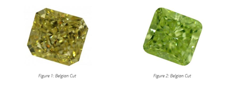 belgian cut colored diamond
