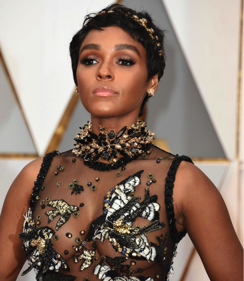 Janelle Monae colored diamonds