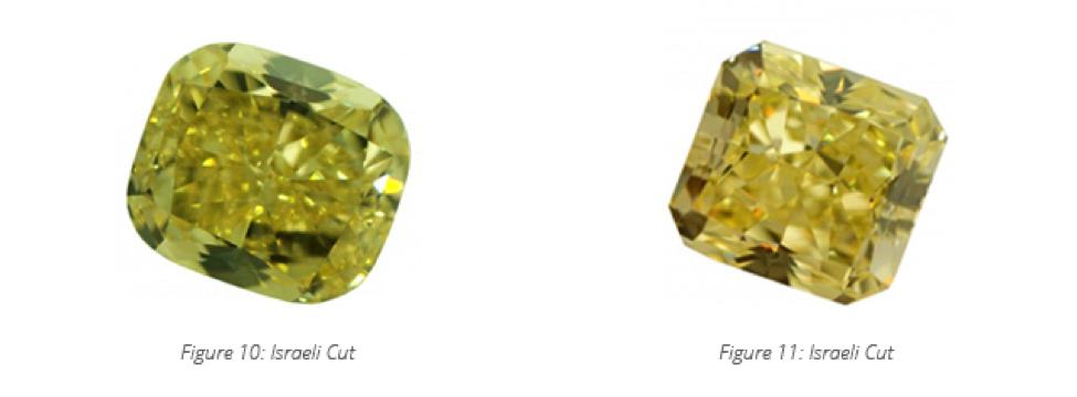 israeli cut colored diamond