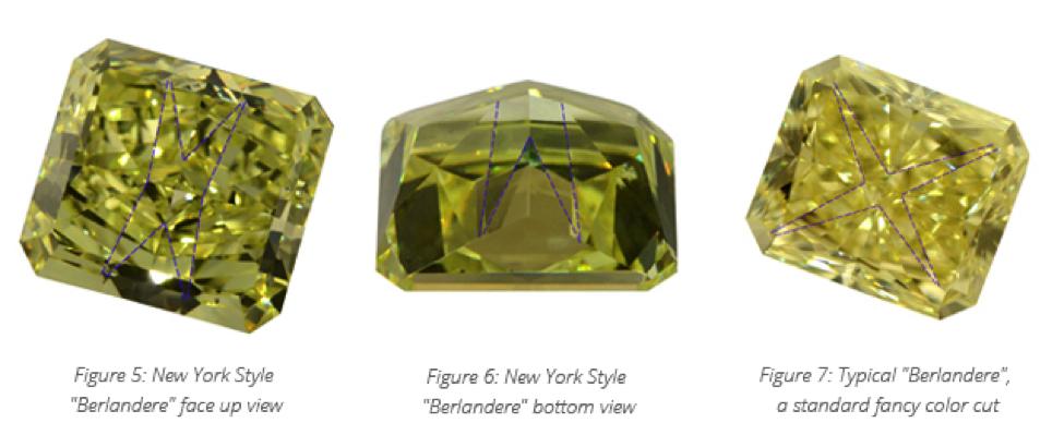 new york style cut colored diamond