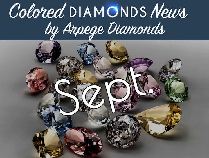 colored diamond news september