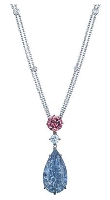 blue diamond pendant christies