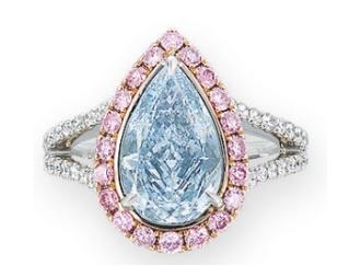 blue diamond ring christies