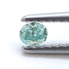 blue green diamond light