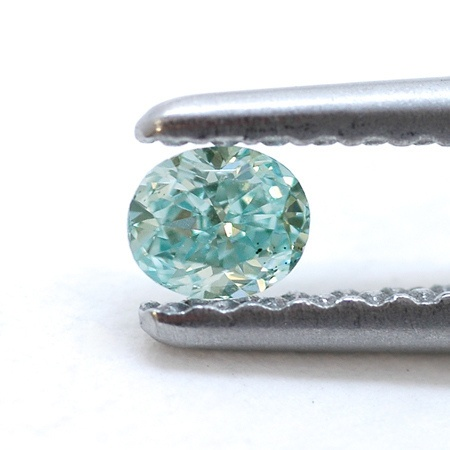 blue green diamond light