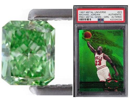 green diamond michael jordan card