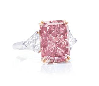 orangey pink diamond christies