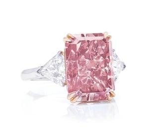 orangey pink diamond christies