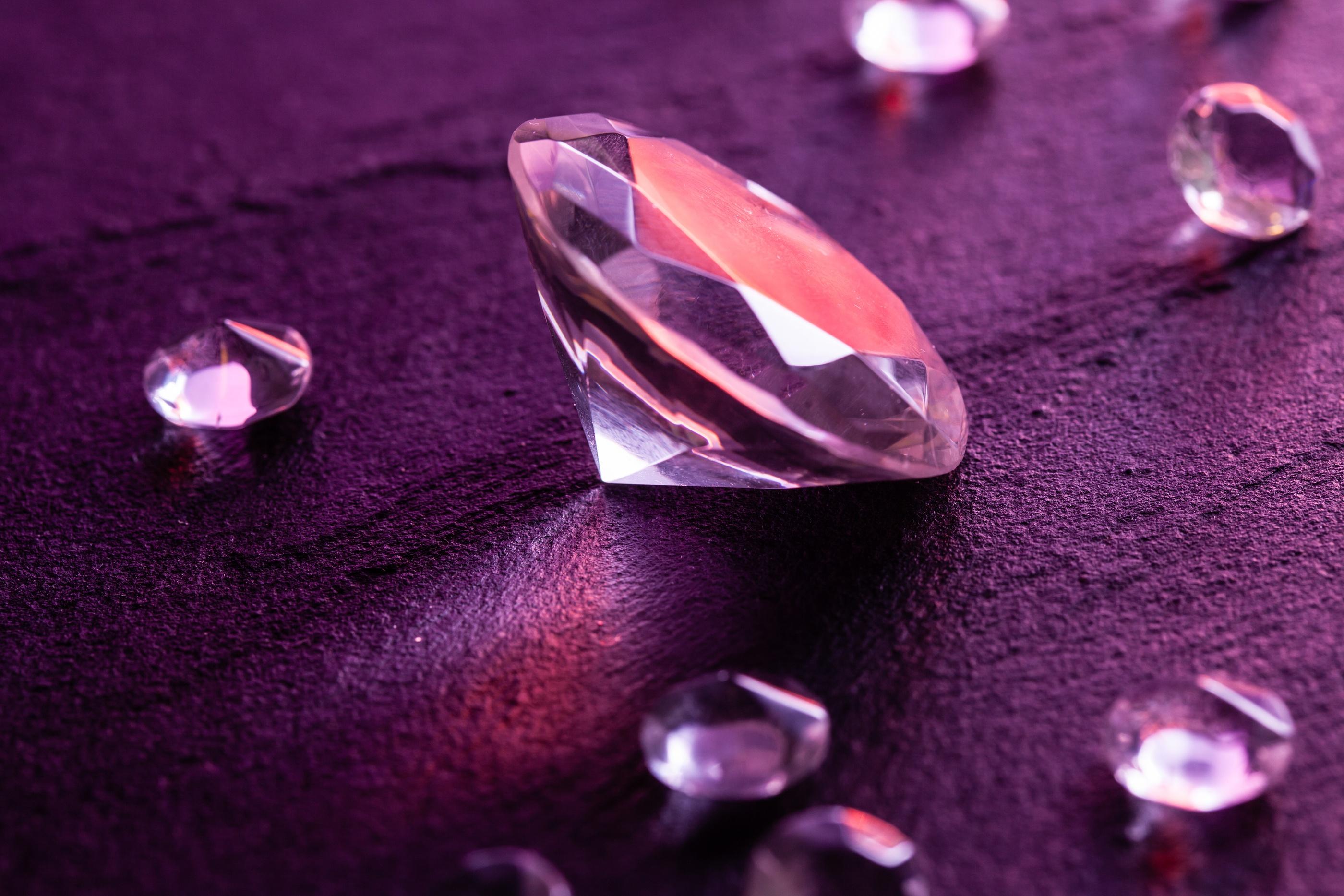 natural purple diamonds
