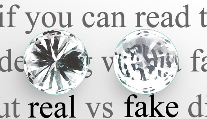 real vs fake diamond