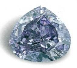 royal purple heart diamond